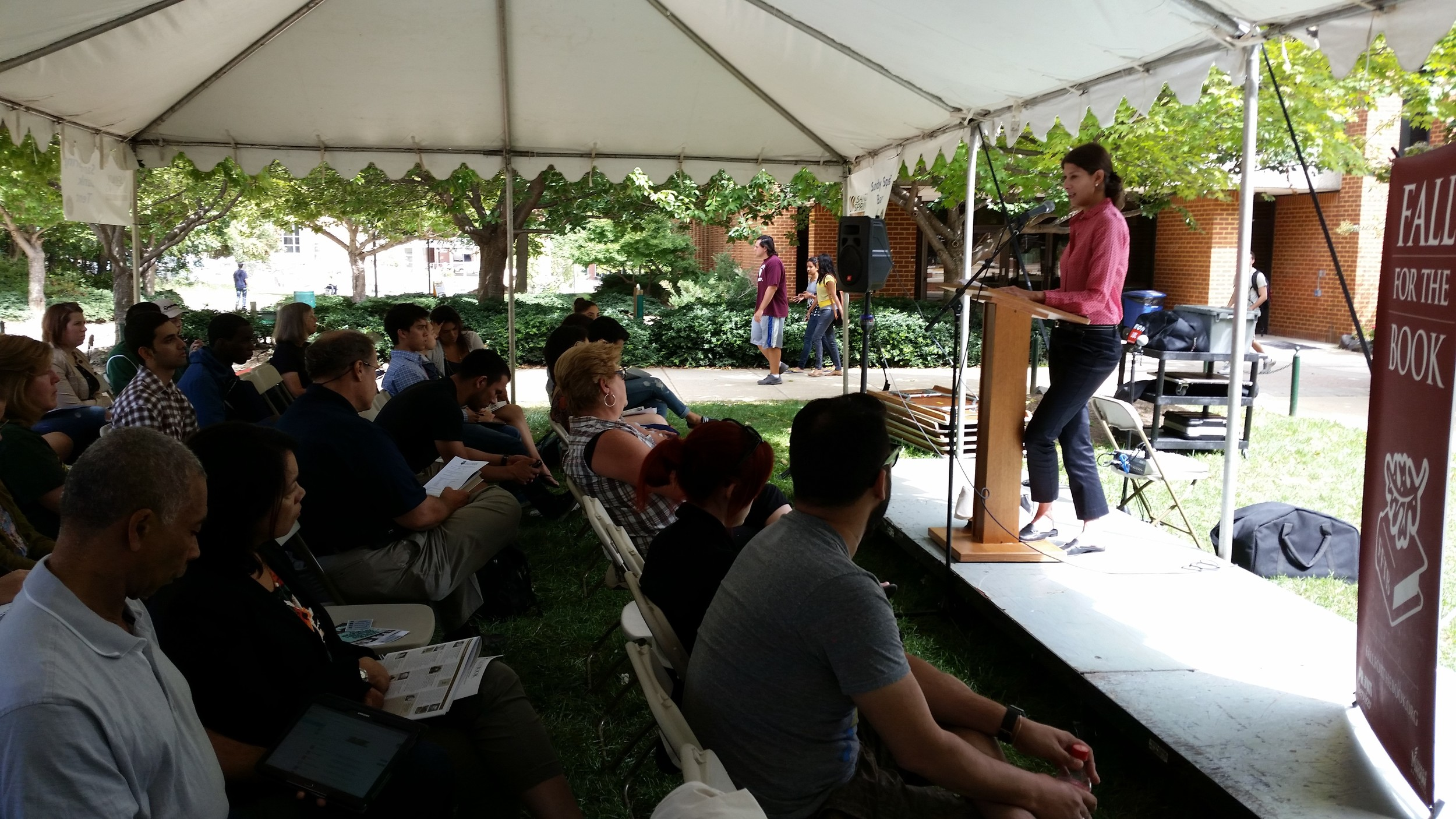 Decent crowd at Fall for the Book 2014