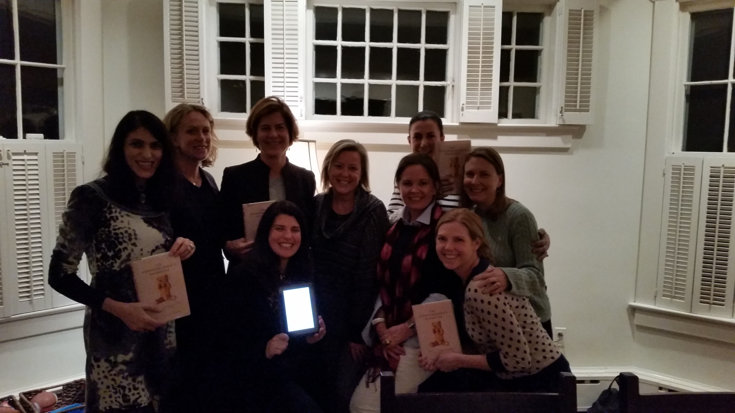 My first book club visit inthe Washington, D.C area. It was so much fun and these ladies asked some great questions!