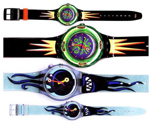 Designs created for and produced by SWATCH
