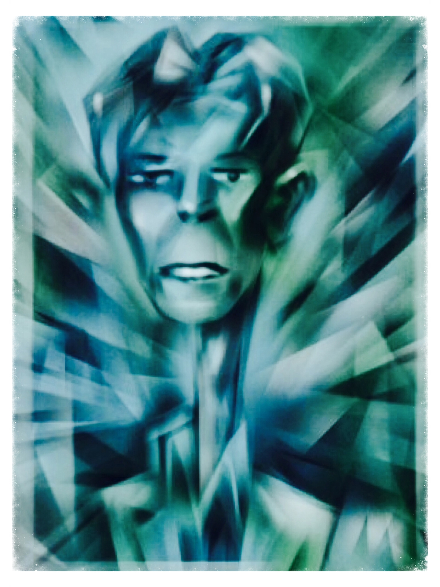 """""""Missing David""""  Amazing artist. Inspirational superstar chameleon. Sad David Bowie shaped hole in the world now."""