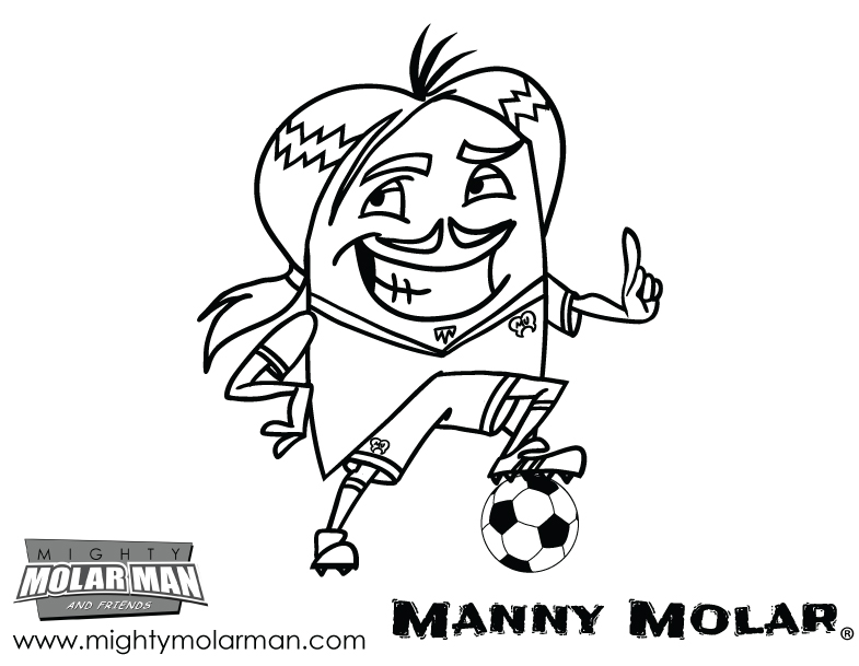 Mighty MolarMan & Friends® Coloring Pages - Packet 2 - Page 4