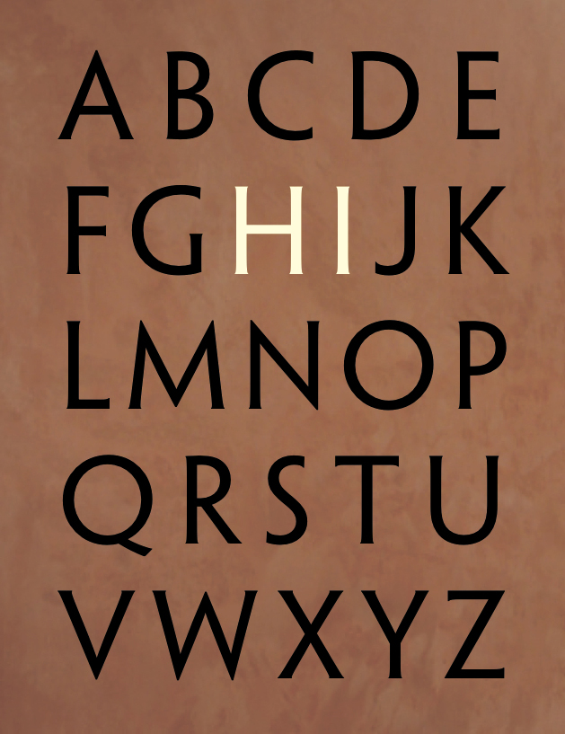 Alphabet    Available as a postcard in the  Shop