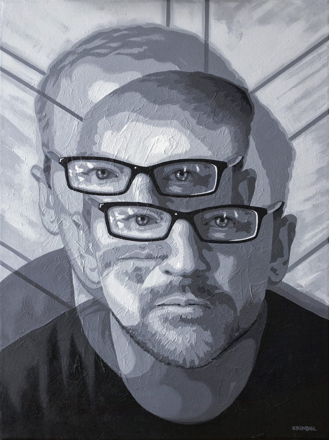 Ken Kimball   Self-portrait   acrylic on canvas
