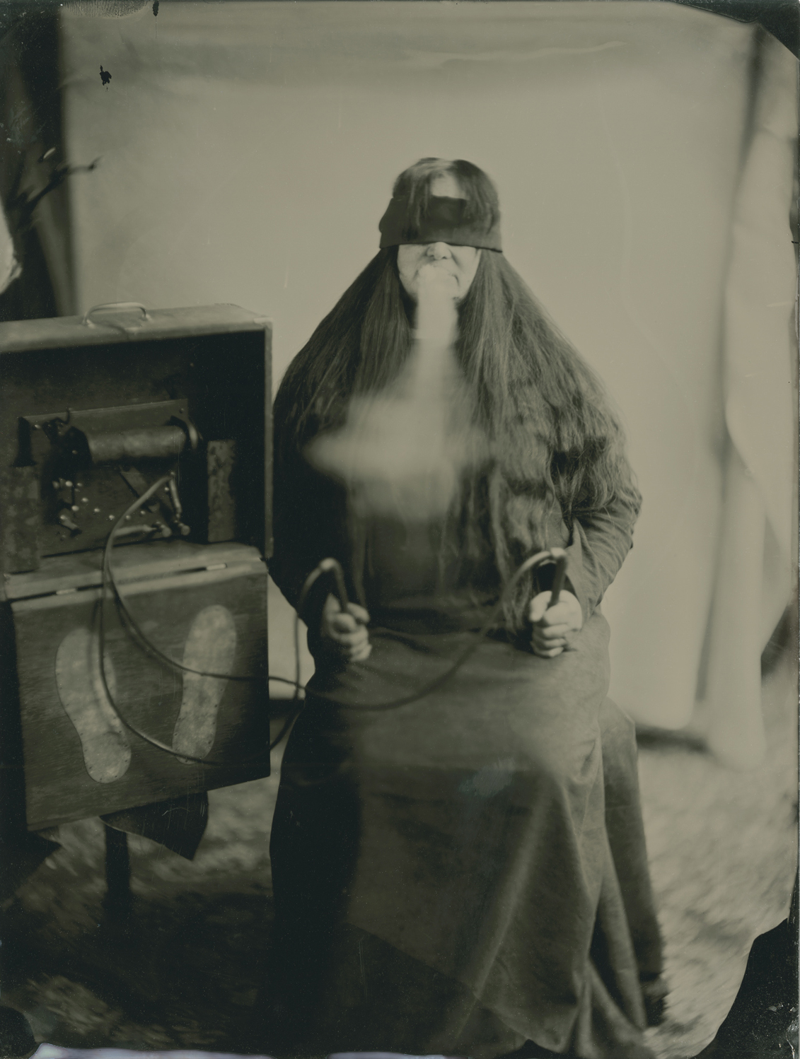 Spirit Photography Tintype by Vermont photographer Nakki Goranin