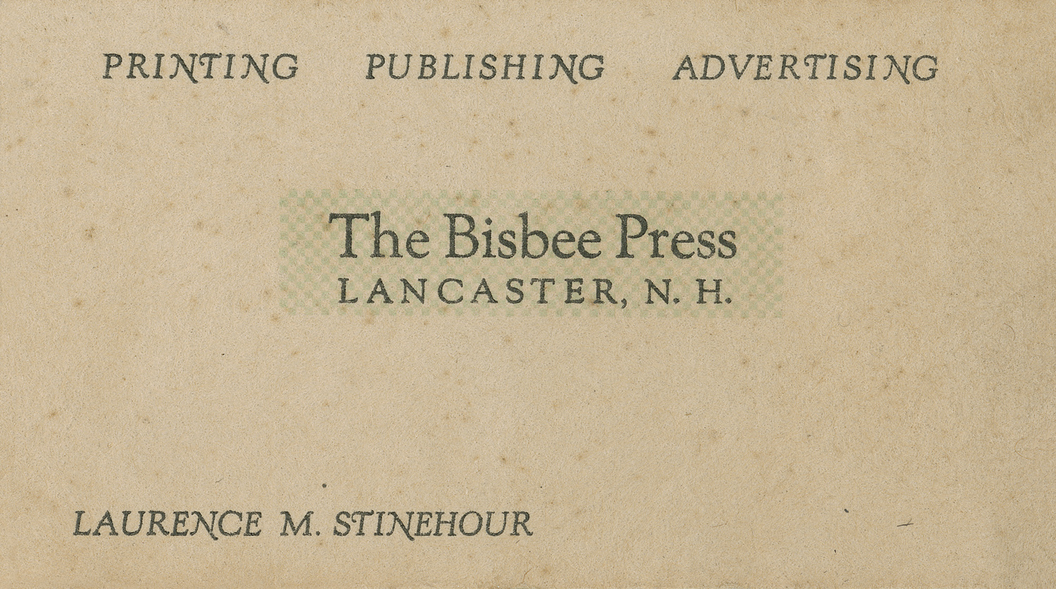Business Card, 1950