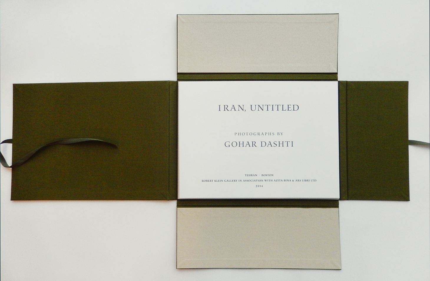 Gohar Dashti  Iran, Untitled    Design and inkjet printing of text pages by Stinehour Editions.