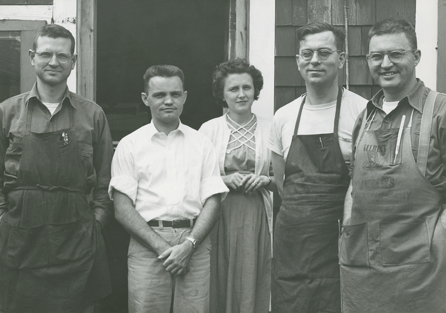 First five employees of The Stinehour Press