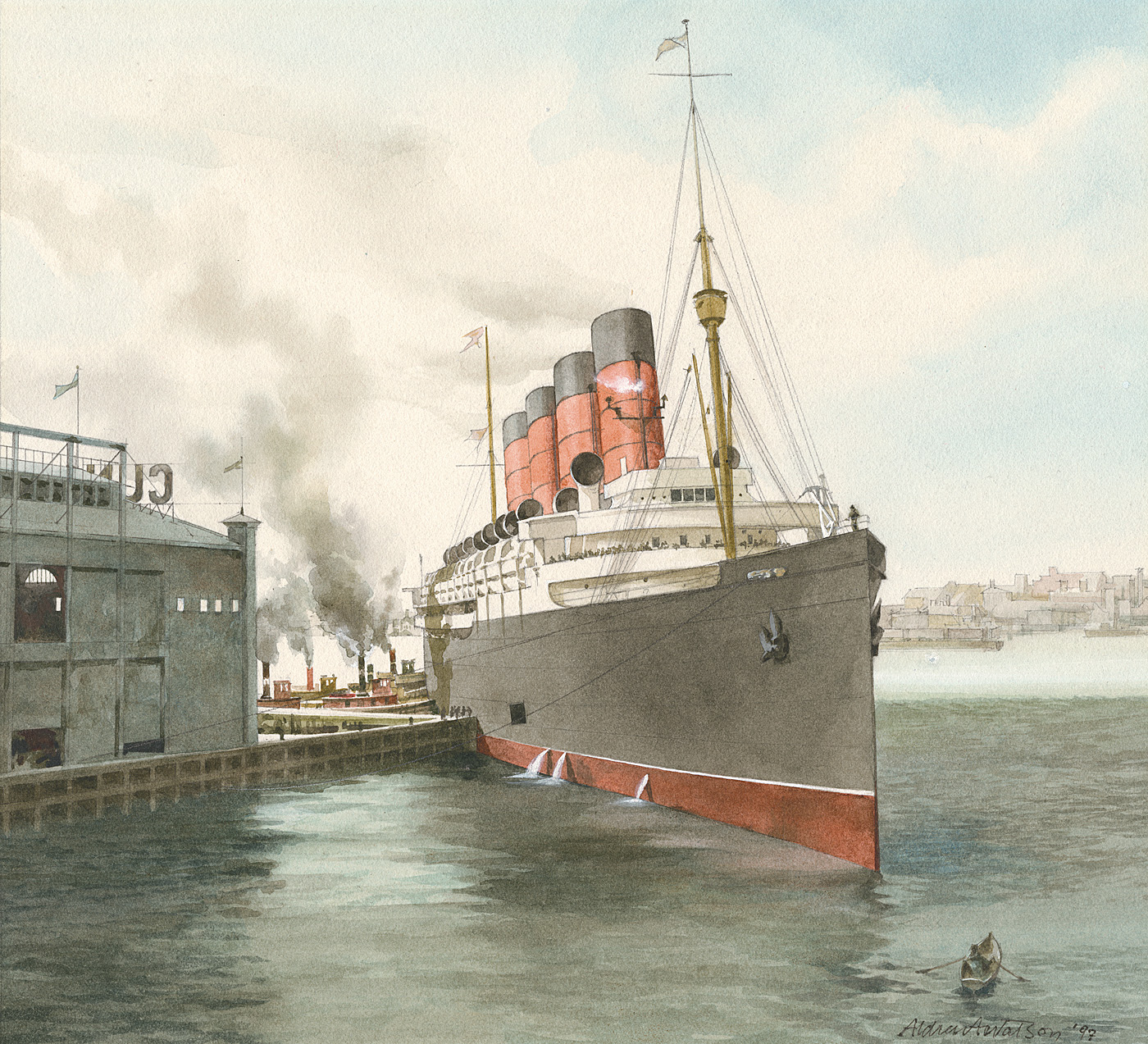 Aldren Watson_Docking the Mauritania.jpg