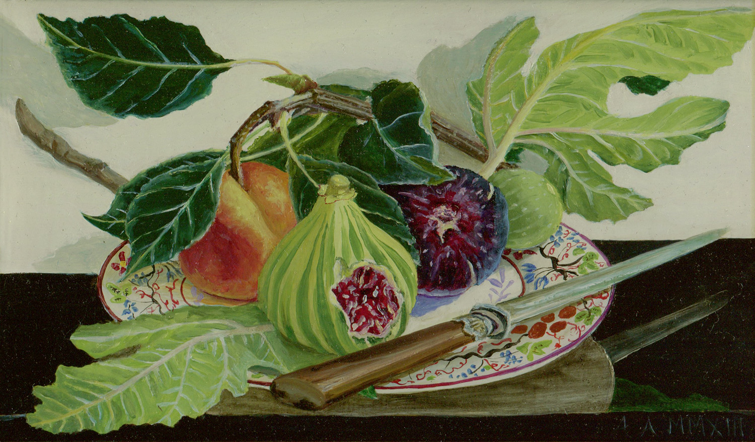 Ann Arnold,  Figs, 2014   Oil on fruitwood panel  Prints of some of Ann Arnold's watercolors are available in the  Shop