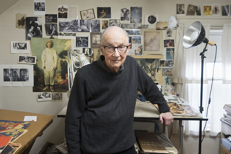 John O'Reilly in his studio, Worcester, Massachusetts.  Photograph by Stephen Stinehour