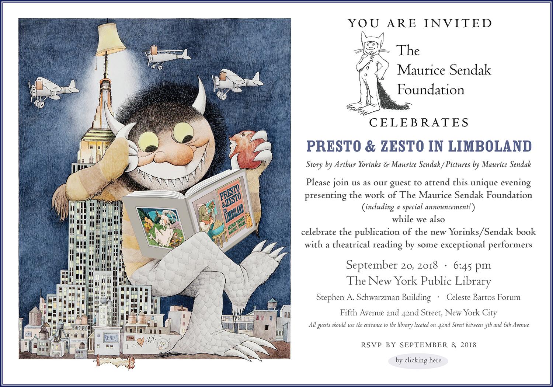 The Maurice Sendak Foundation, Invitation