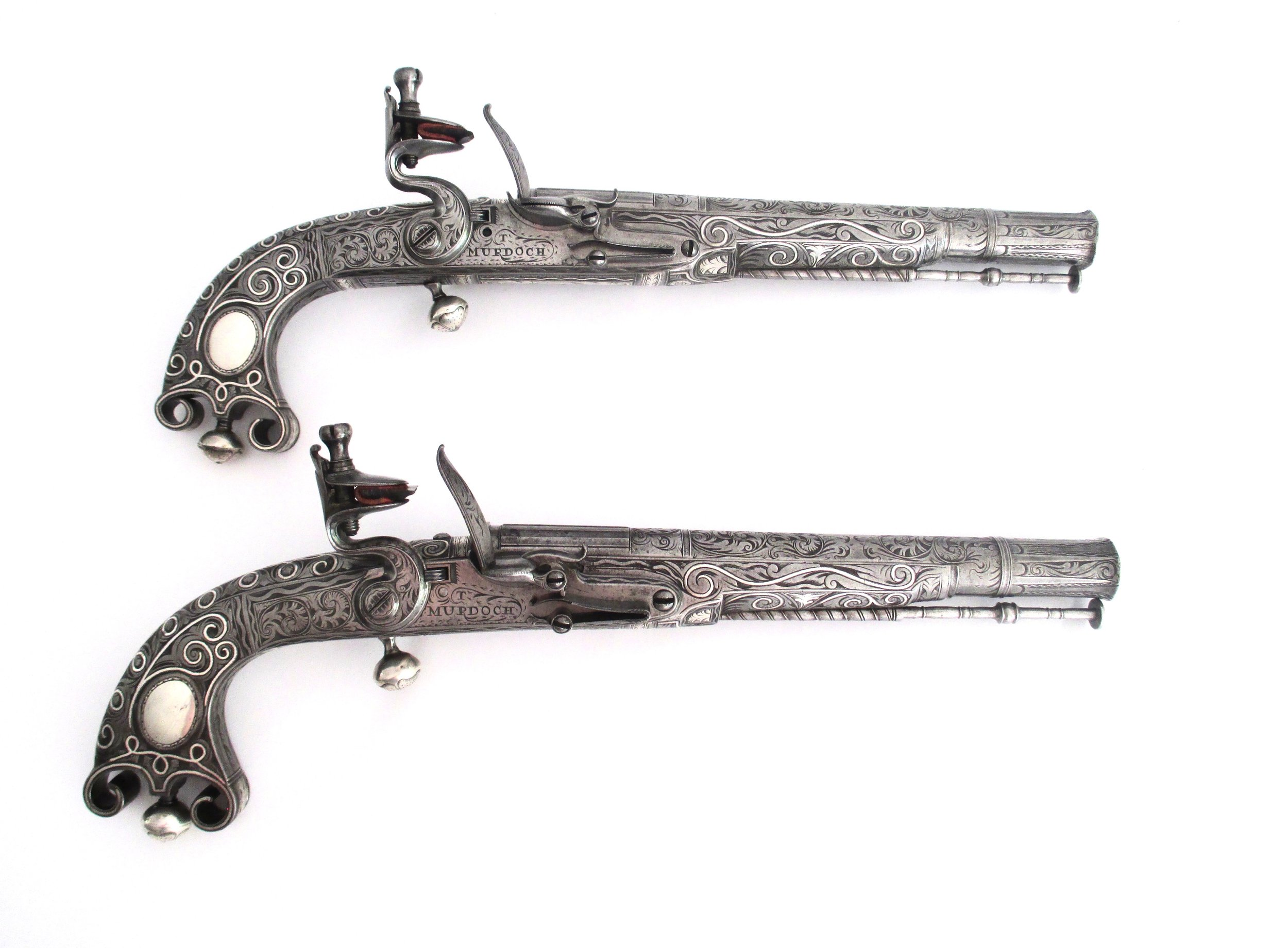 Scottish All-Steel Flintlock Belt Pistols by Thomas Murdock of Doune and Leith, Circa 1770-gary-friedland.jpg