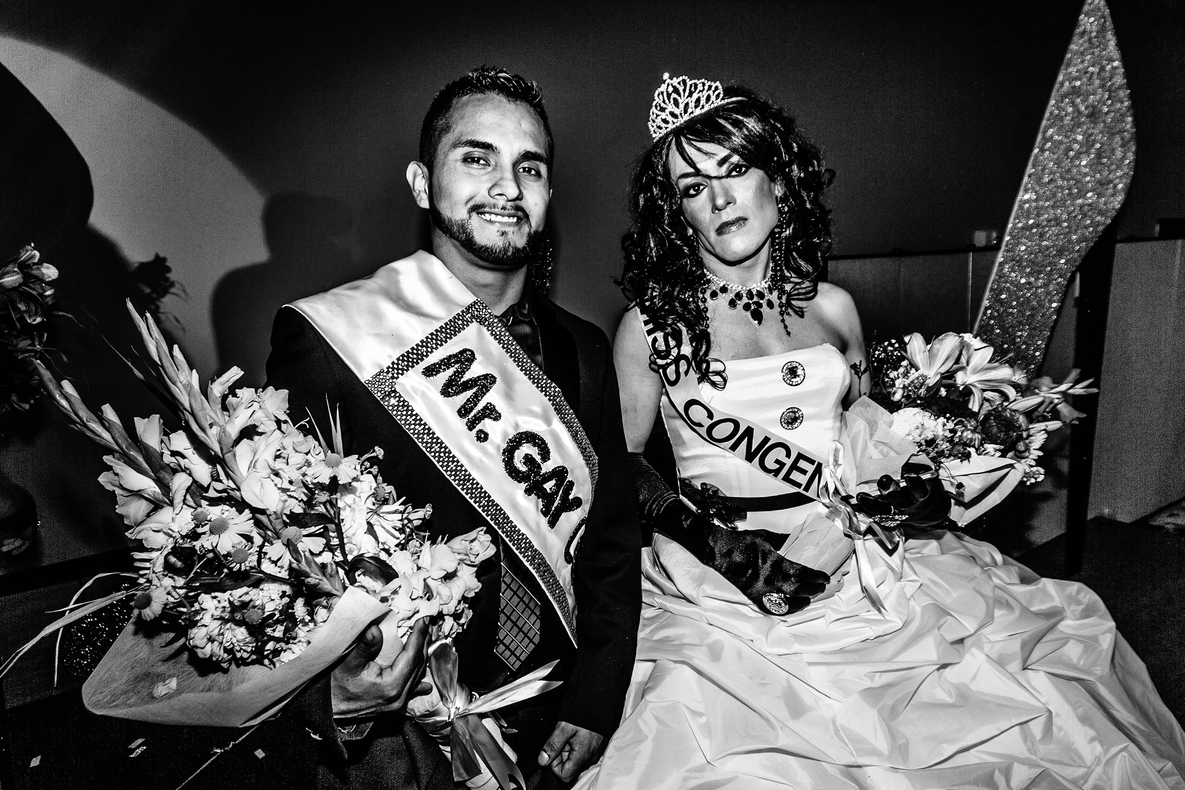 Mr. Gay Latino and Miss Congeniality at Entre Hermanos' Latino Pageant at Seattle University on August 27th, 2011.