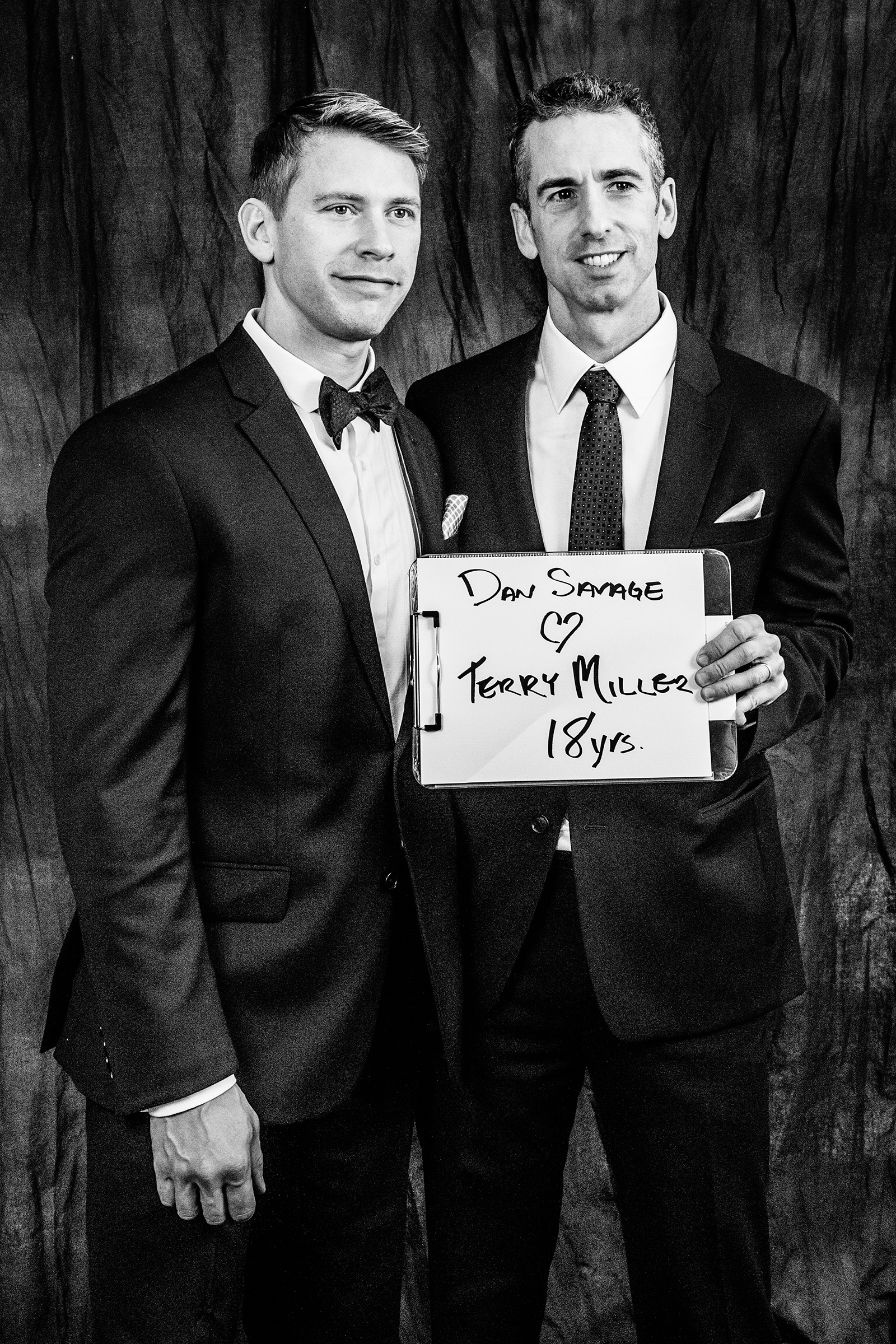 Columnist, gay rights advocate, and founder of the It Gets Better Project, Dan Savage married his partner of 18 years, Terry Miller, at Seattle City Hall on December 9th, 2012.