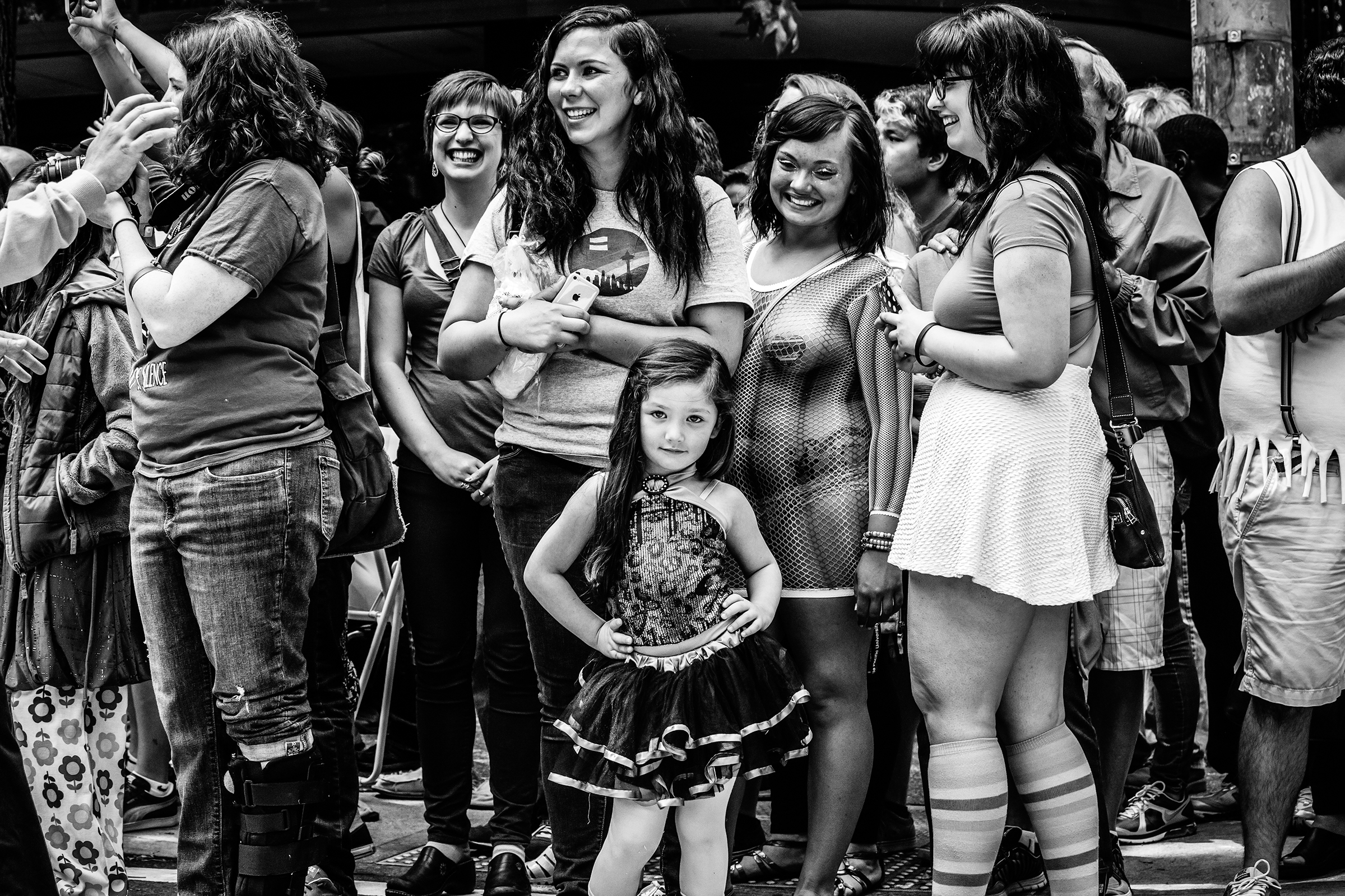 A young diva poses for the camera at Seattle Pride Parade on June 29th, 2014.