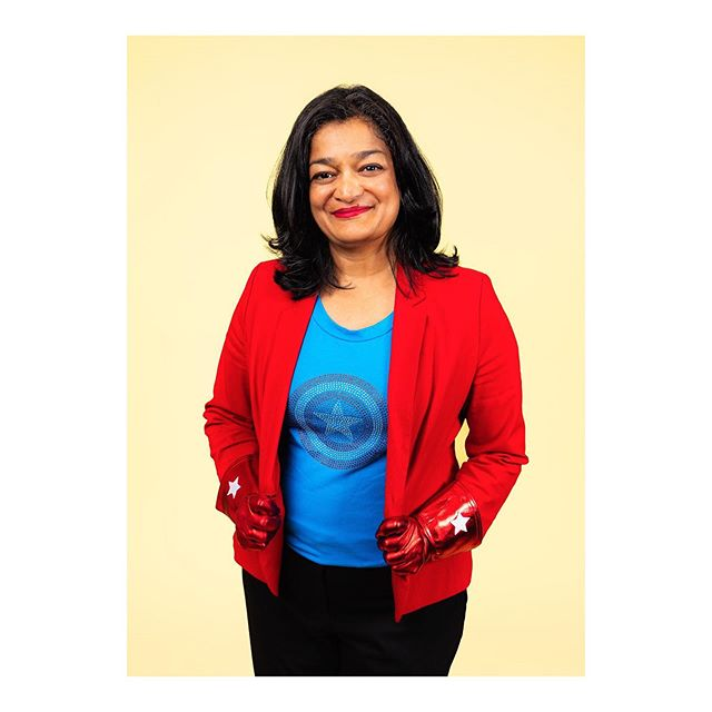 "Today, in light of President Trump's Twitter tirade directed at four minority Democratic lawmakers over the weekend, I'm sharing another portrait of Rep. Pramila Jayapal (WA-07). Underscoring how a presidency stewing in rage, fear, and identity politics lacks boundaries, she delivered the following floor speech in support of H.Res. 489, a resolution she co-authored which condemns the president's use of the nation's most revered office to make such unequivocally racist remarks: ""I am appalled at the statements coming from the White House, telling people who dissent that somehow you should go back to your country if you criticize the United States. Well, let me remind you that dissent is patriotic and, in fact, a core value to our democracy, enshrined in our Constitution. And yes, I am a proud naturalized citizen born in India, a proud patriot, a proud person who belongs in this country. And it's not the first time I've heard 'go back to your own country,' but it is the first time I have heard it coming from the White House. And frankly, Madam Speaker, I am appalled that, on this floor, my Republican colleagues would call any of us anti-American. That is why this vote is so important. Because we have to let the rest of the country know that the House of Representatives will stand up for the Constitution and represent and defend every single person in the country, regardless of the color of their skin or the country of their birth. Madam Speaker, my Republican colleagues have been talking about patriotism, about love of country. One of them said, 'Love it or leave it.' But what is love, if not to make what we love better through our critique, our work and our service? That is what real Americans do. We do not stifle dissent, we do not otherize or sow hatred, and we certainly never say, 'go back to your country' to a brown or a black person, because that is a racist trope. I hope that every single member of this chamber – Republican and Democrat – will join me in rejecting the president's message and vote in support of this resolution. That is the American thing to do. I yield back."""