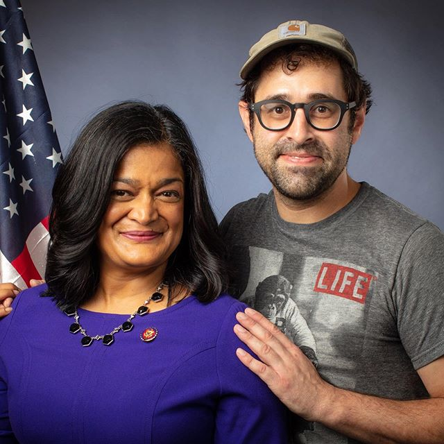 Our favorite Congresswoman, Rep. Pramila Jayapal, dropped by our little Seattle studio to have her official congressional portrait , among others, taken this morning. I hopped into a frame! Crew was lighting designer and digitech Gregory L. Evans, MUA Olivier Villafuerte, and hair stylist Tanner Crook. It was a fun morning :)