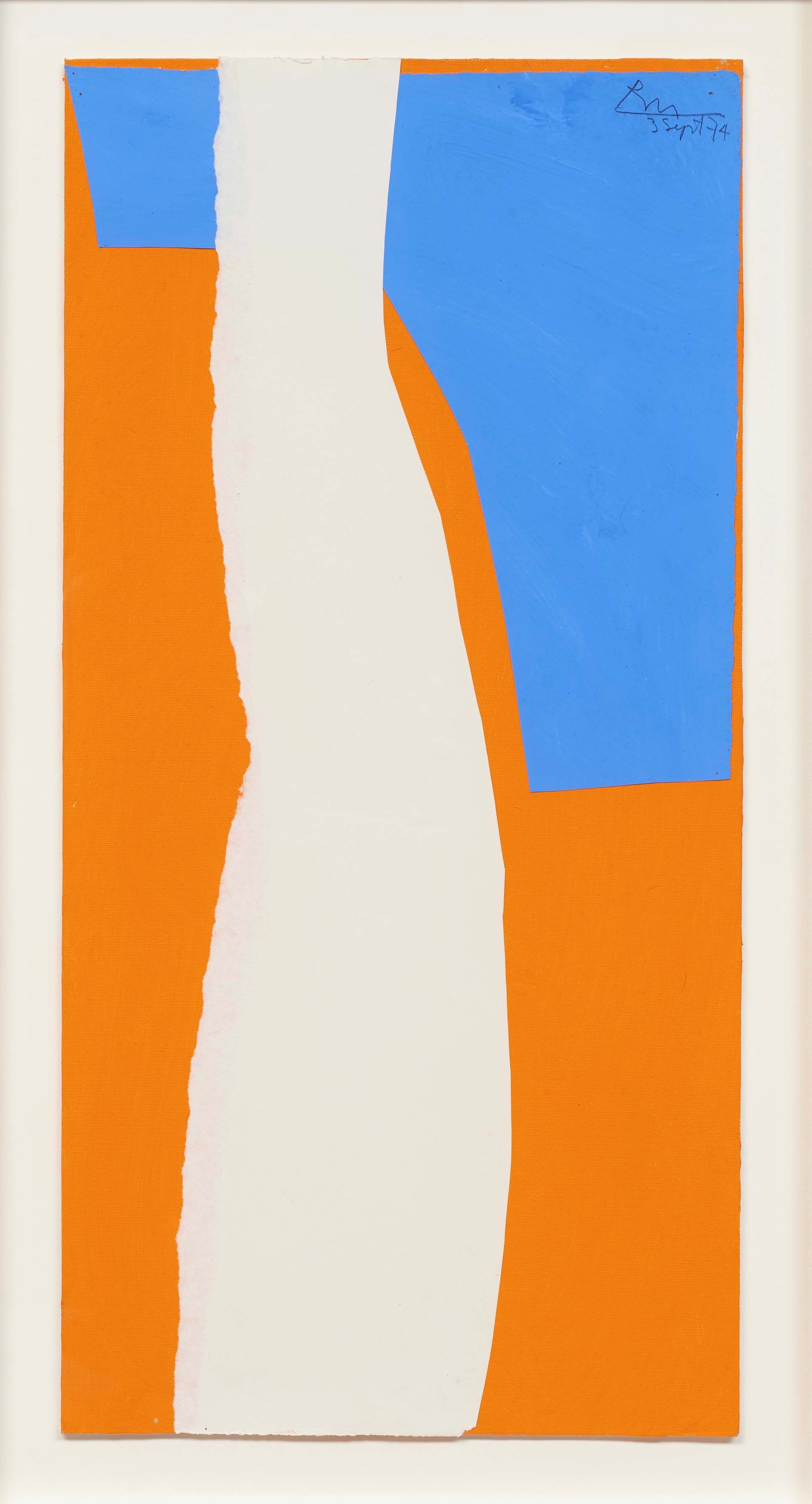 Robert Motherwell,  Blue and White on Orange No. 1