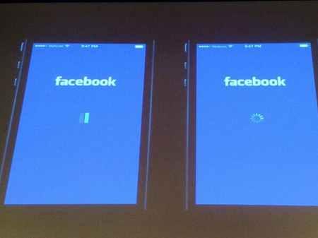 Facebook A/B Testing Its iOS App's Loading Icon