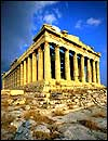 Columns and roof: Parthenon