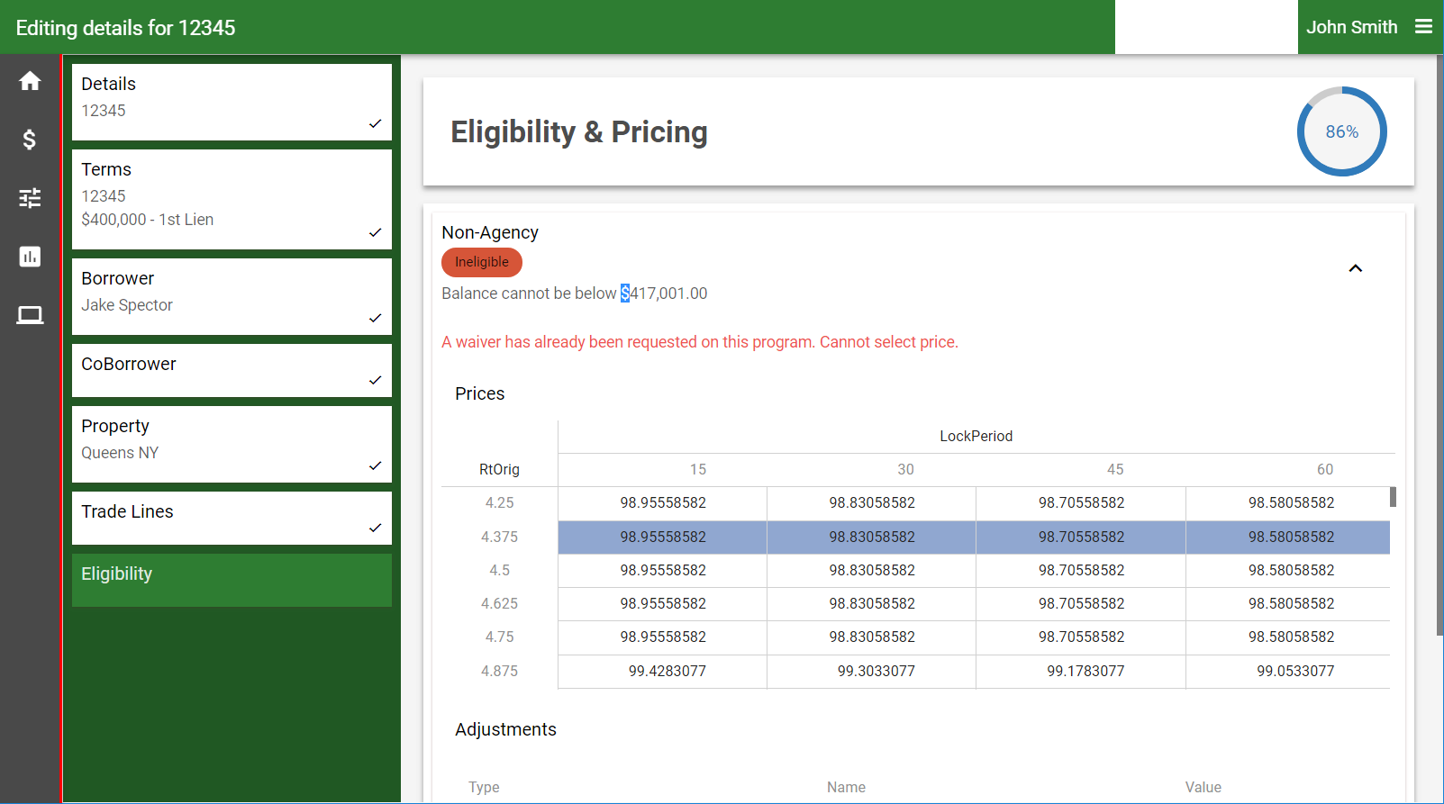 Pricing calculators
