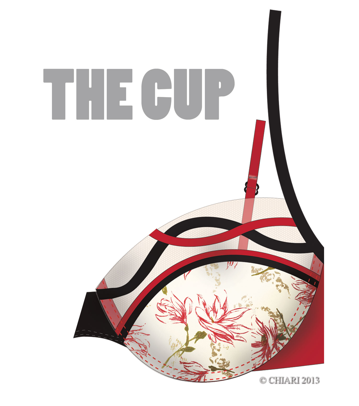 CHIARIstyle:The Cup Floral Garden with binding applique.
