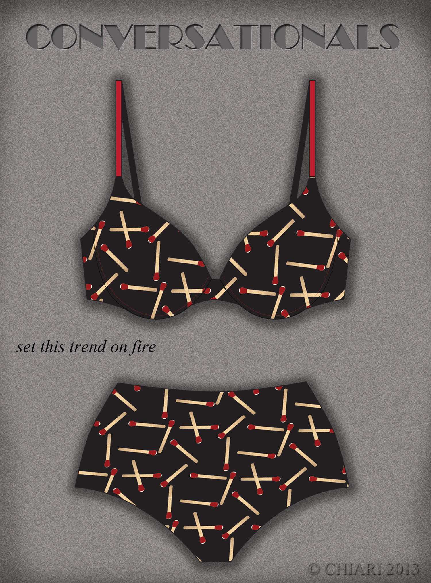 CHIARIstyle:Matchstick Product Development print idea-Spring Summer 2014 Trends for Intimates, Lingerie & Loungewear