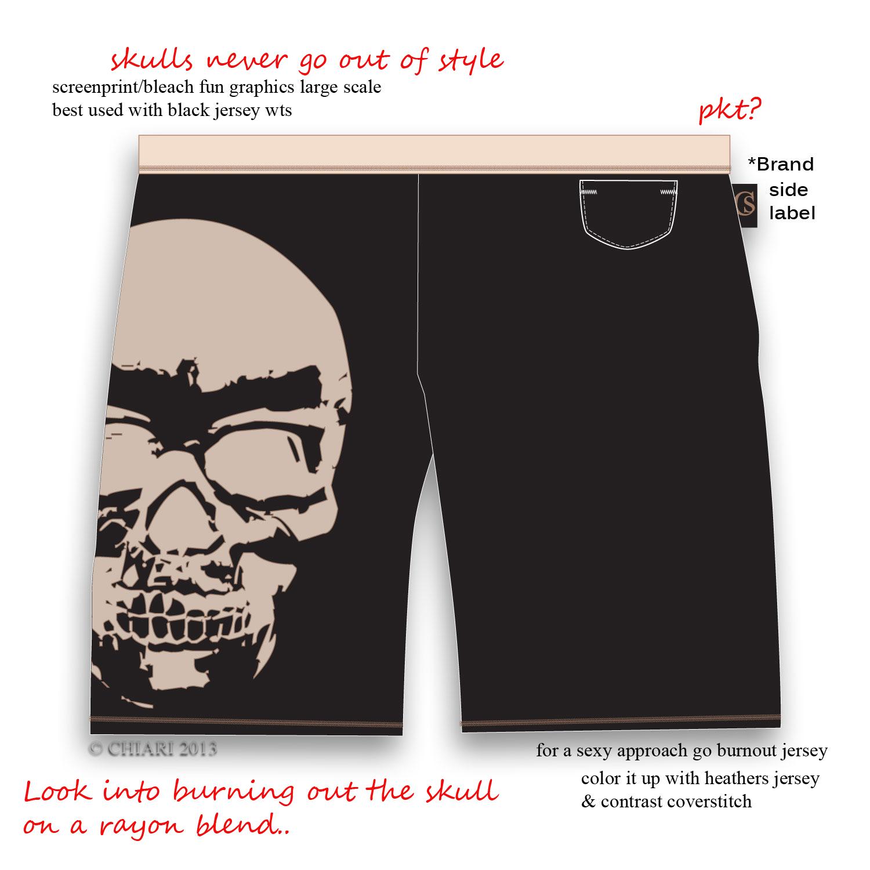 BOXER REVOLUTION: CHIARIsyle-Burned Skull screenprint 2013