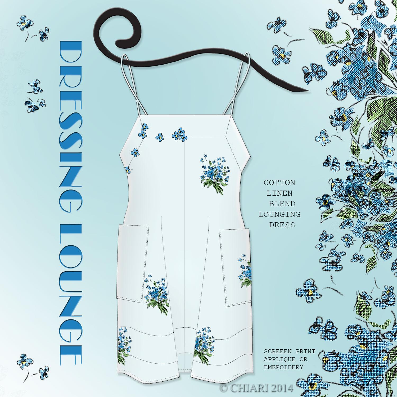 Dressing Lounge Cotton Linen Sleep Dress: CHIARIStyle 14
