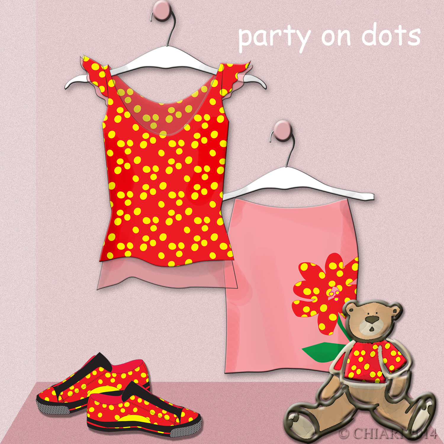Party in Dots ej's room CHIARIstyle 14
