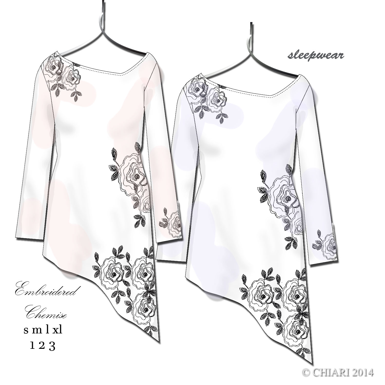 Embroidered Chemise CHIARIstyle