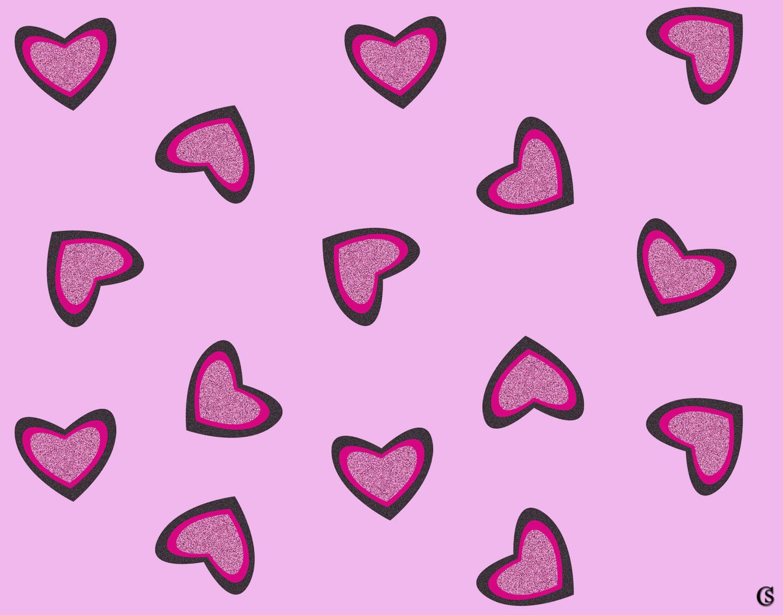 glitter heart print CHIARIstyle