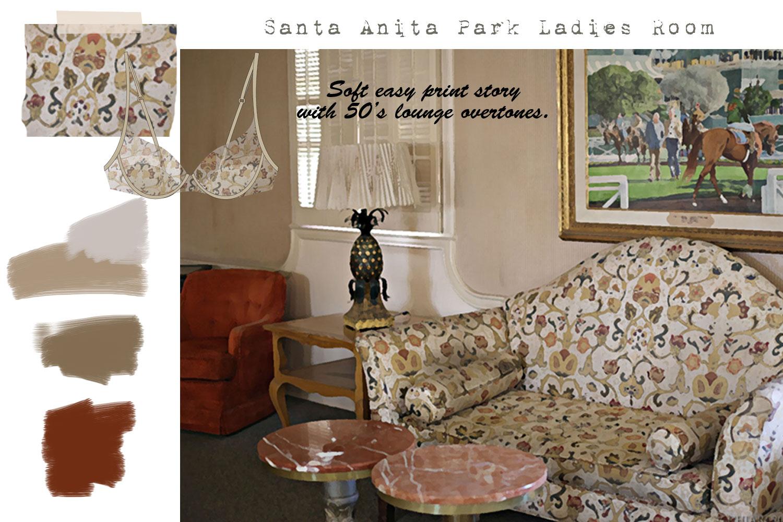 Santa Anita Park The Ladies Room: Loungewear Storyboard CHIARIstyle