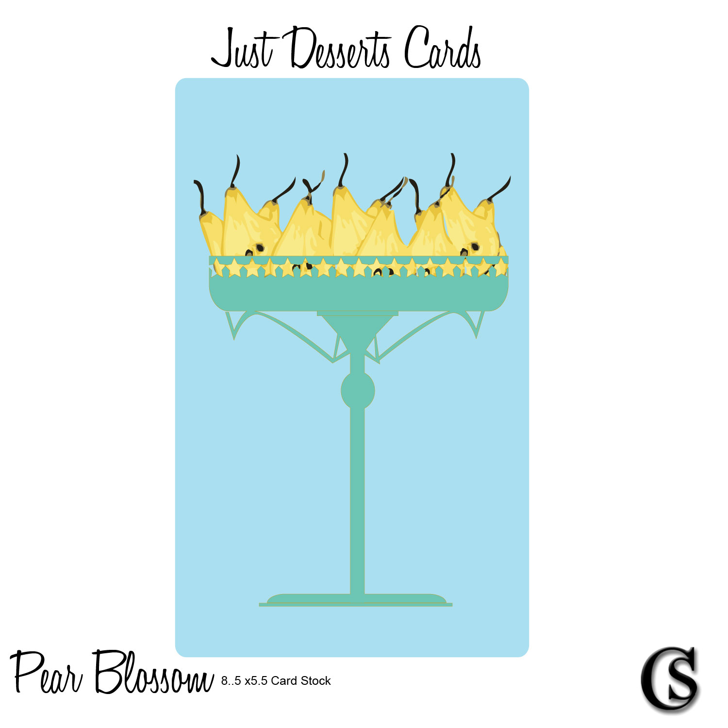 Just Desserts Pear Blossom Greeting Card CHIARIstyle