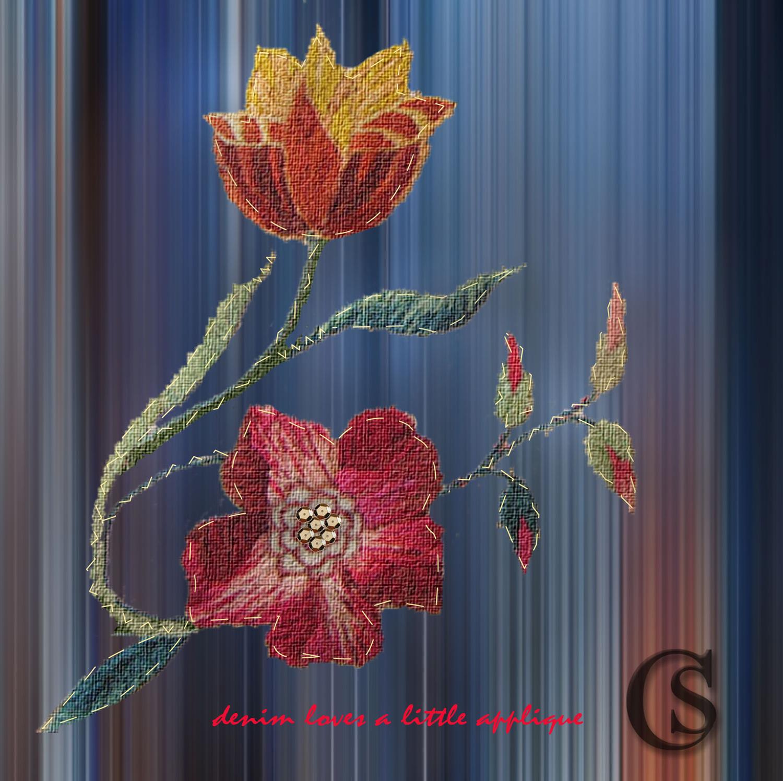 Applique with decorative stitch CHIARIstyle