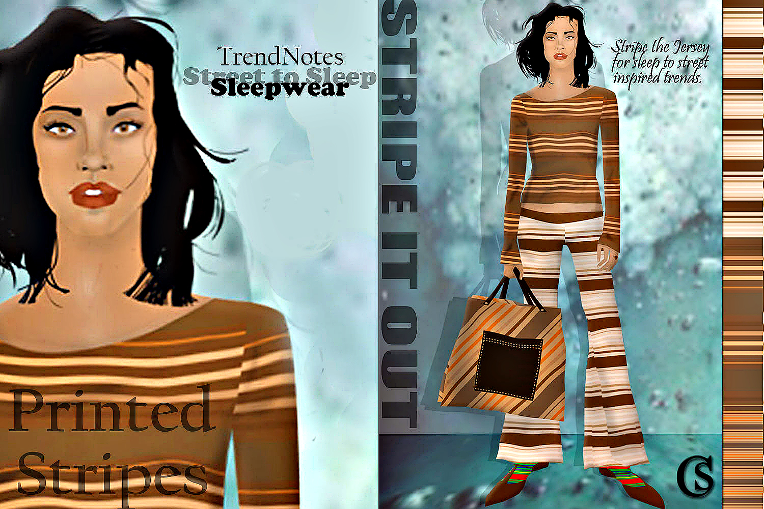 Sleep to Street stipes CHIARIstyle