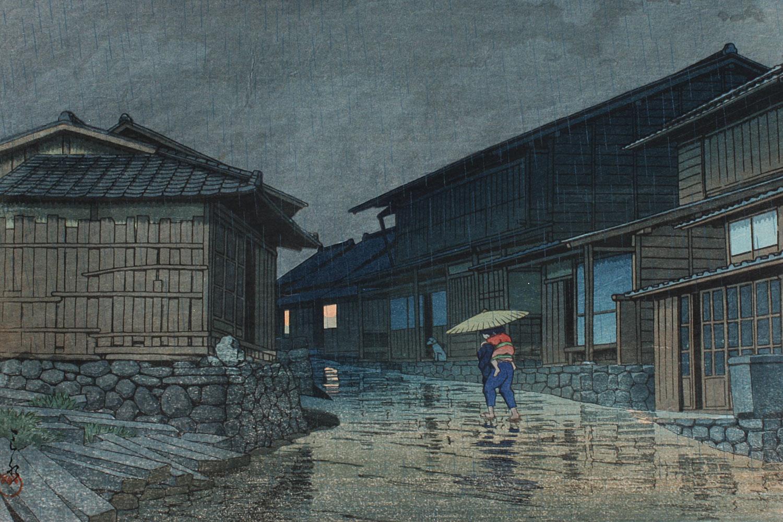 Kawase Hasui Nissaka on Tokaido CHIARIstyle print series