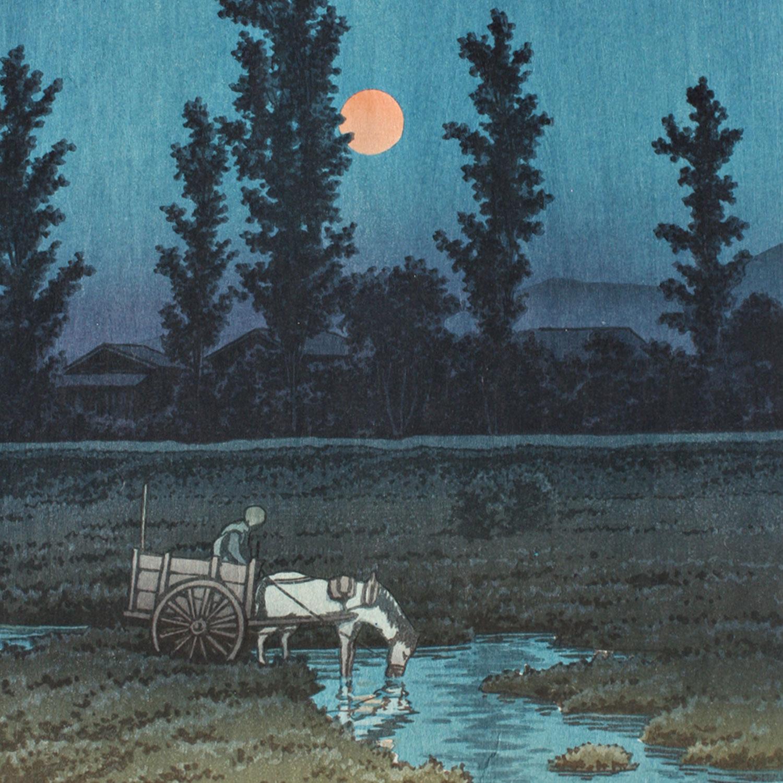 Evening Moon at Nakanoshima Park