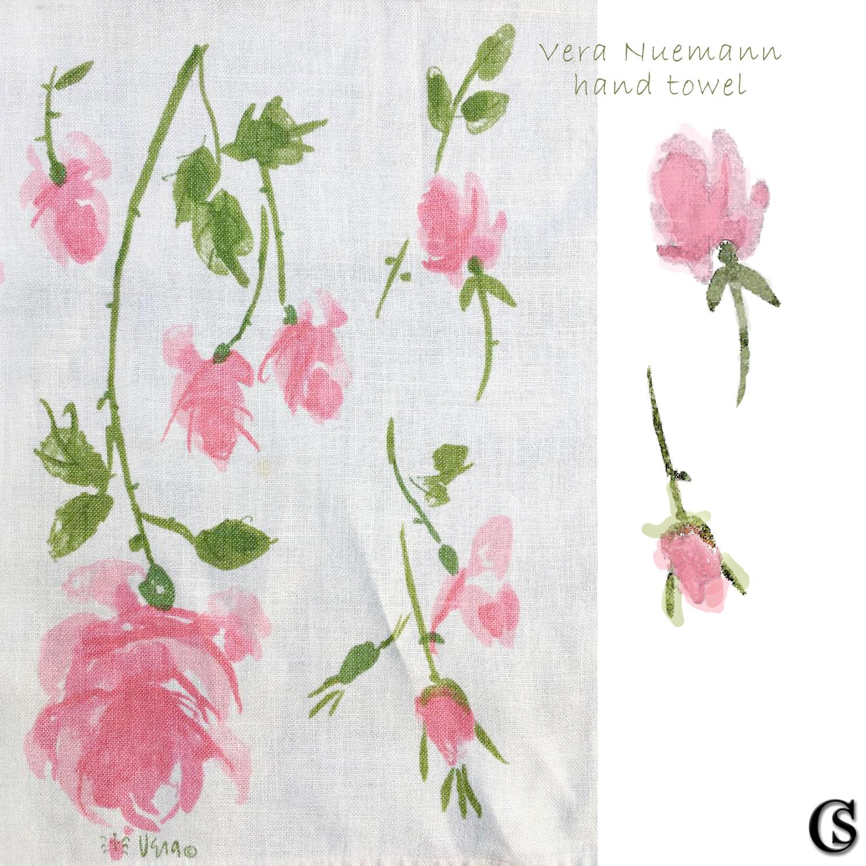 Vera hand-towel print design
