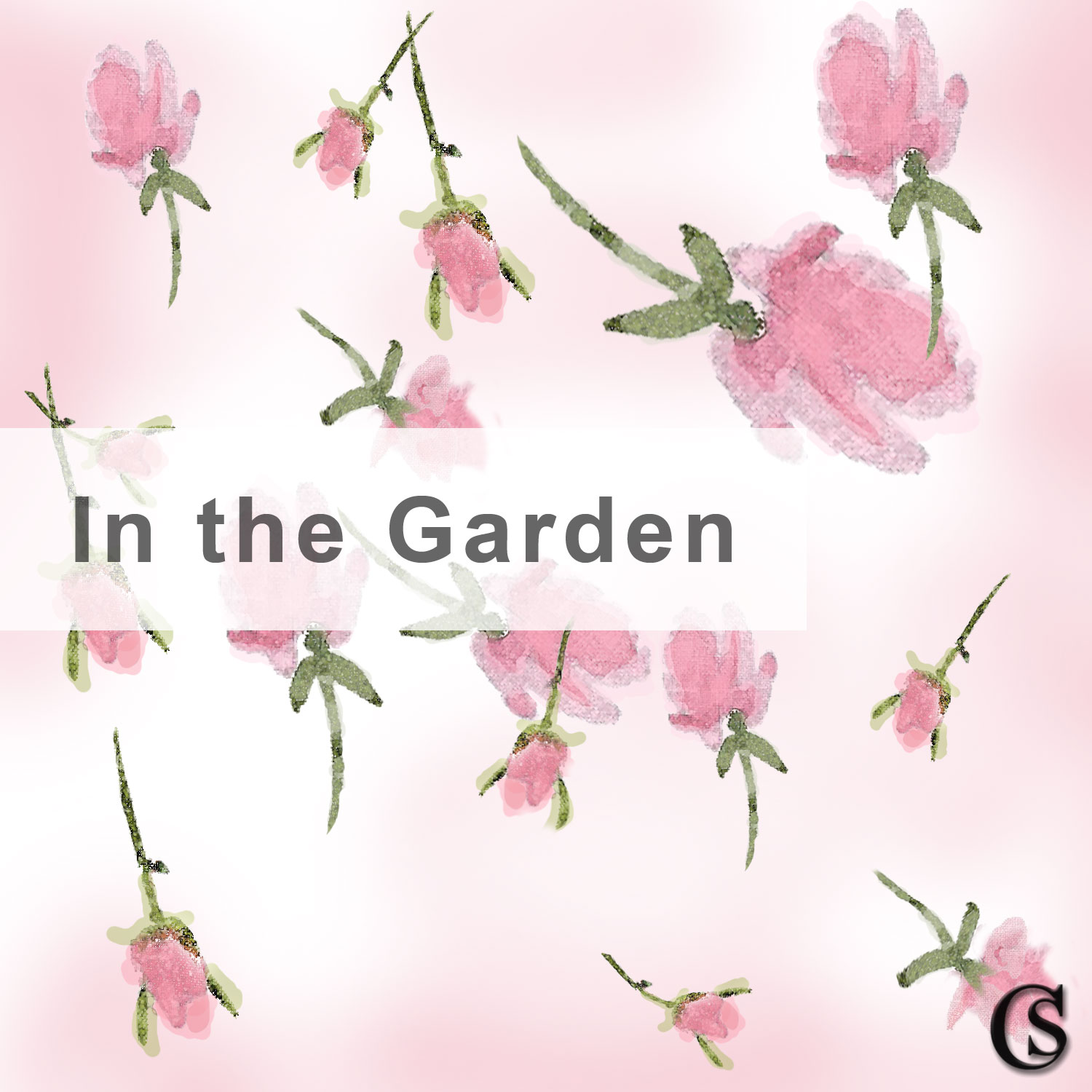 In the Garden Rosebud Print