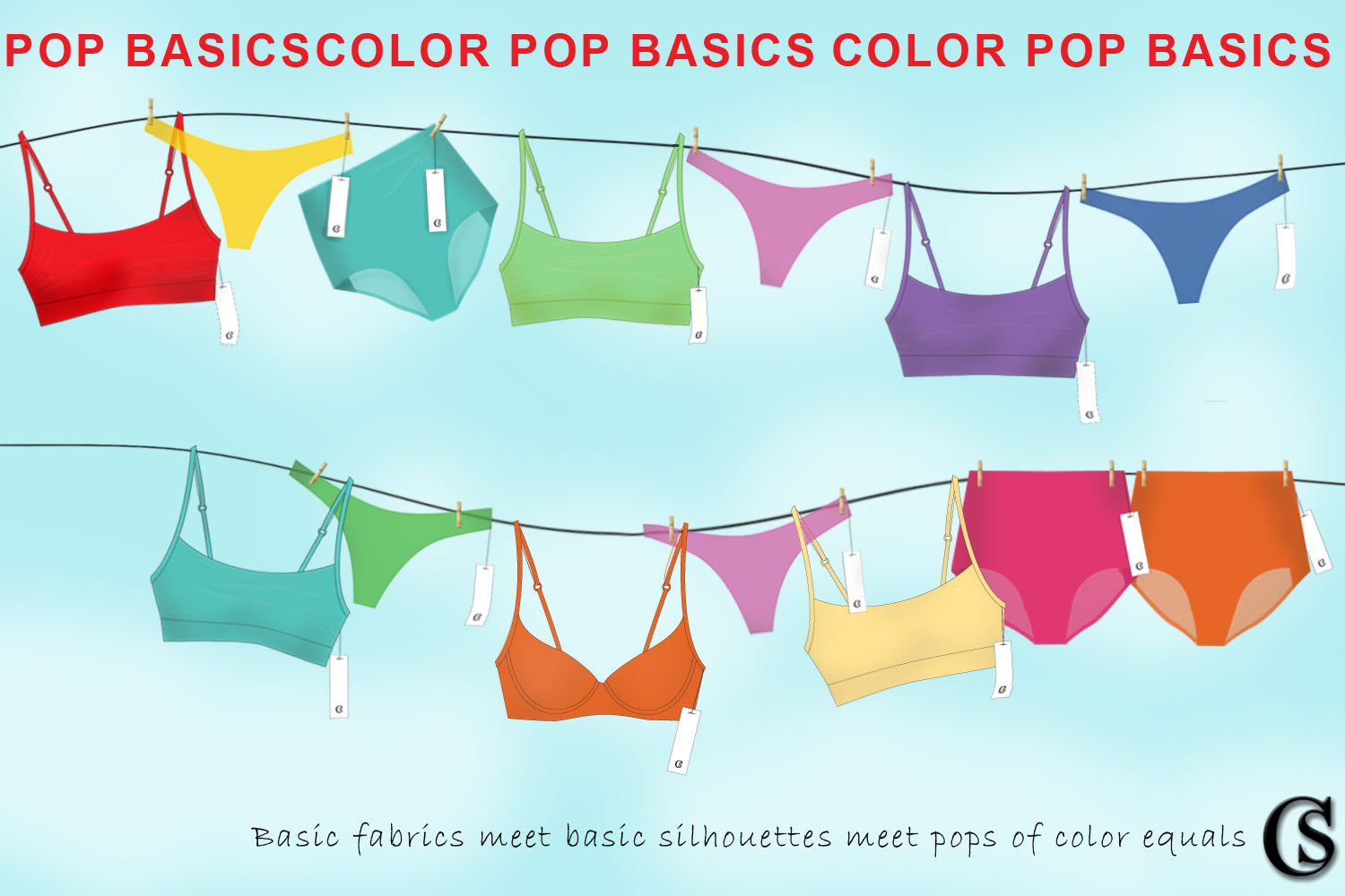 Color up your brand basics for 2021 summer lingerie trends