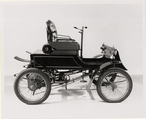 The Smithsonian's 1901 Pierce Motorette. This image is from its webpage, America on the Move.