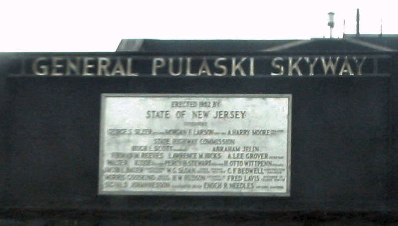 """Look up when driving past this plaque on the Pulaski Skyway and say, """"Hey, Otto Wittpenn. How's it going, man?"""""""