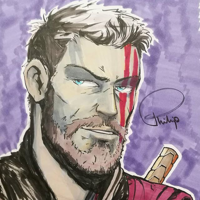 Not been posting much lately. Here's a little sketch from today's comic con. Thanks to everyone supporting us today buying prints and Comic books! #oxcon #thor #ragnarok #artist #comics #makingcomics