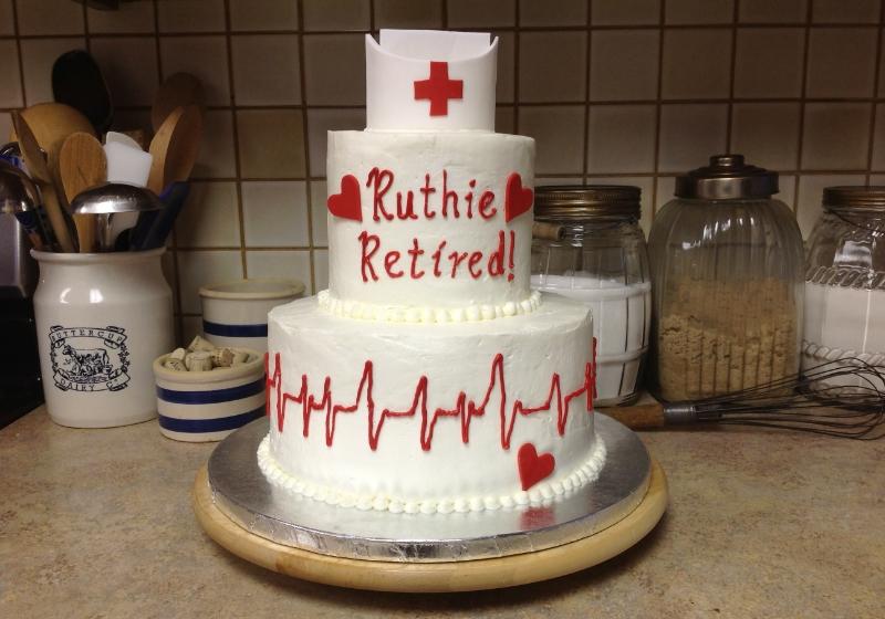 Fondant nurses' cap and hearts done by my friend, Annika.
