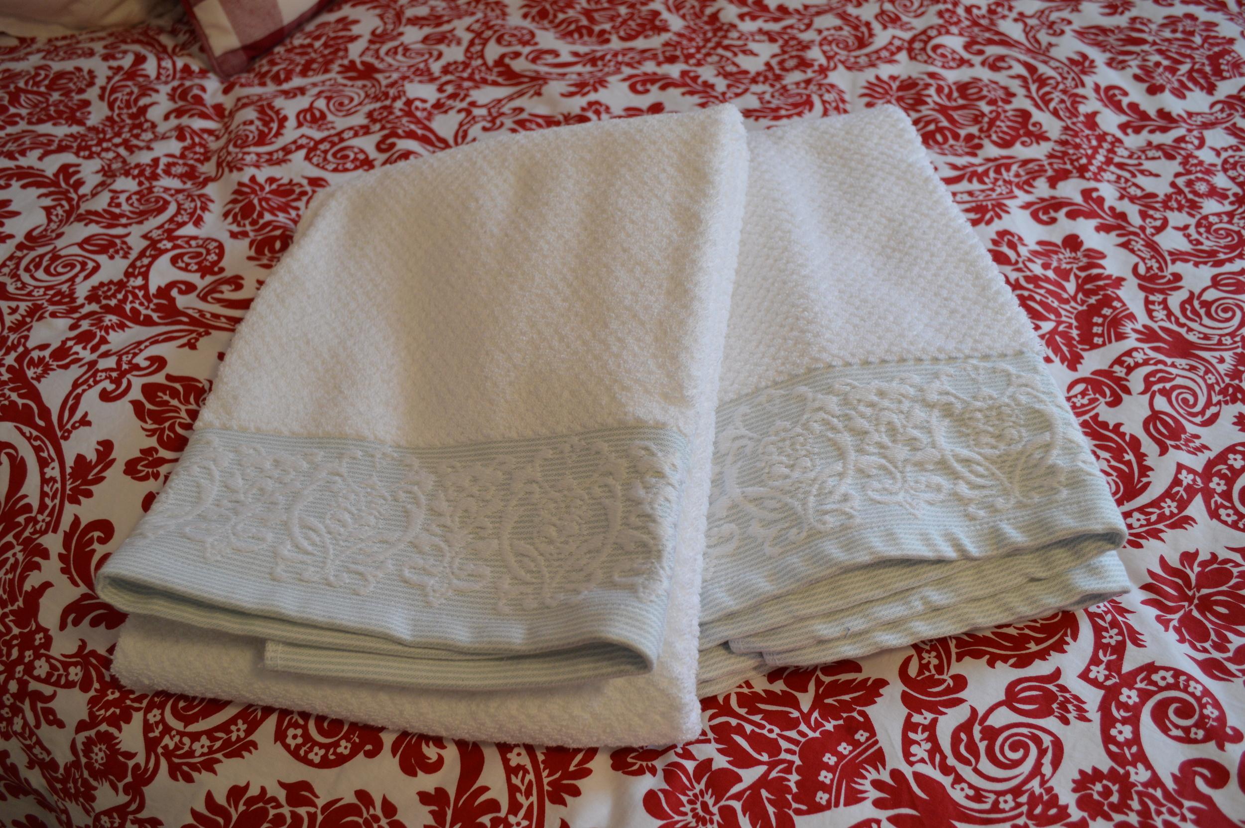 Clean, fresh towels...