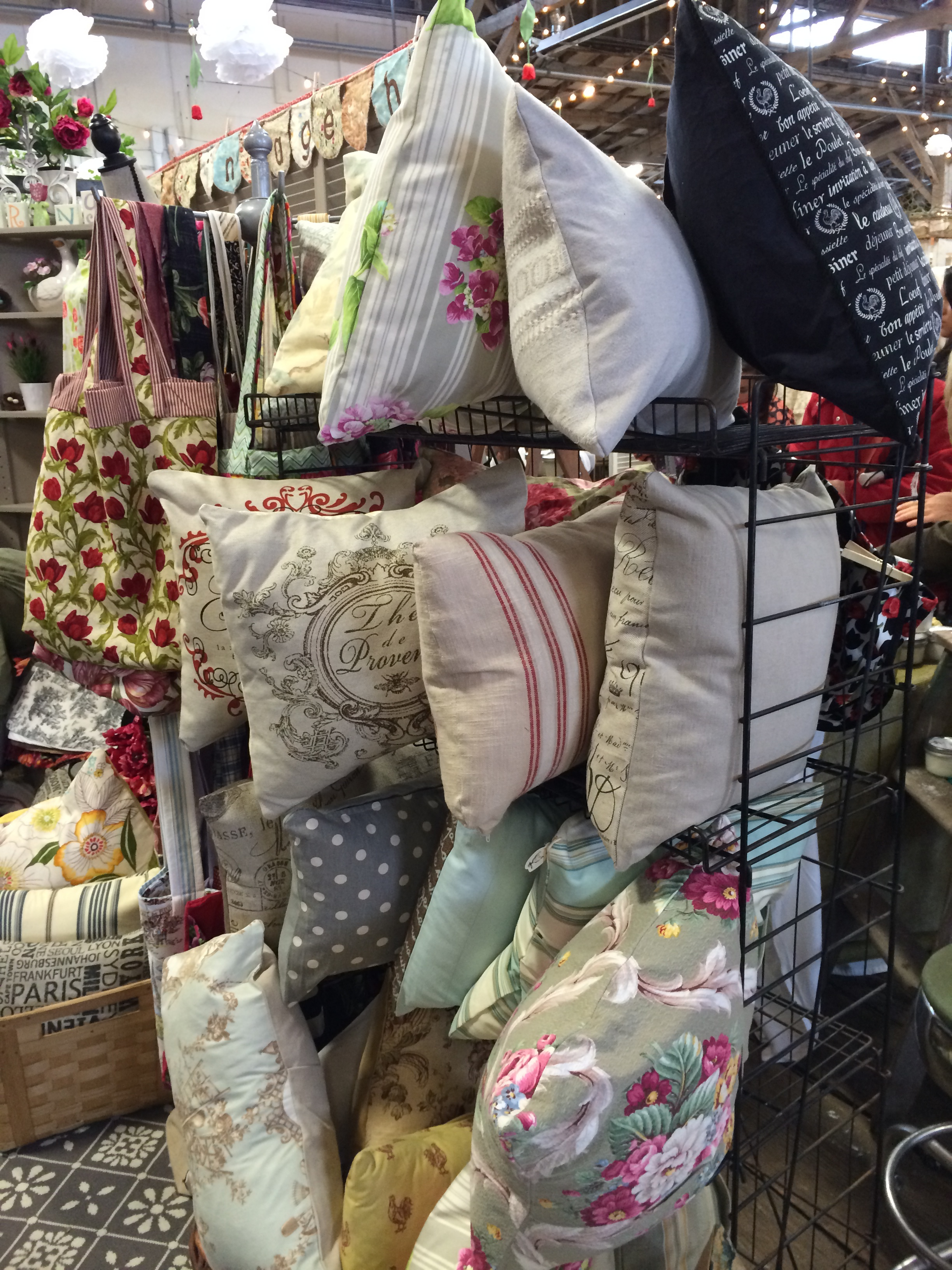 Pillows at Island Chicks...something for any decor style! (P.S. Rug on floor from IKEA).