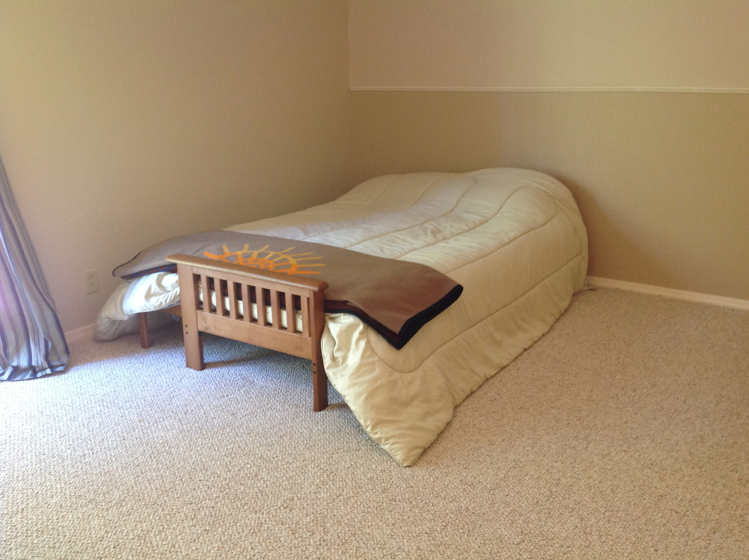 The master bedroom before...