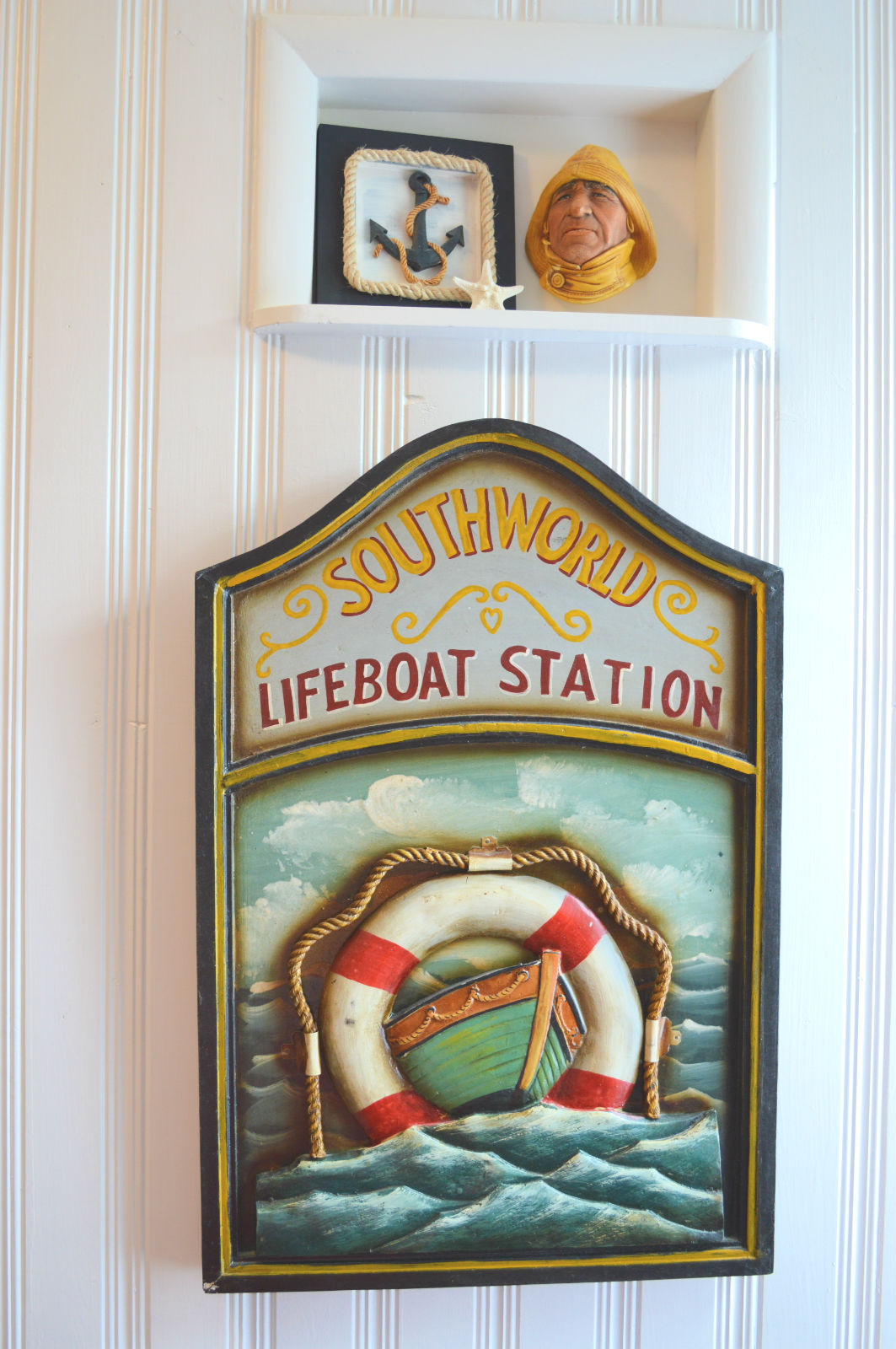 Another Bosson fisherman head from Etsy...Life boat art piece already owned.