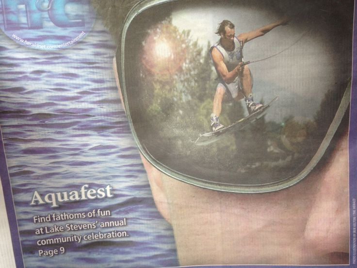 Photo via Everett Herald...the young man wakeboarding is my son!